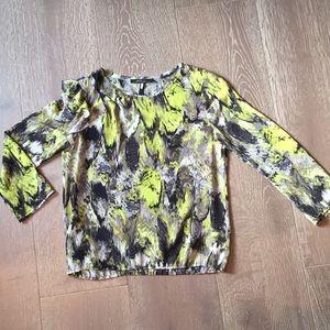 BCBG MaxAzria neon green and black blouse